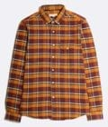 Far Afield Larry Long Sleeve Shirt a Deep Red Check Cotton Flannel Fabric Work Lumberjack Check Casual 5