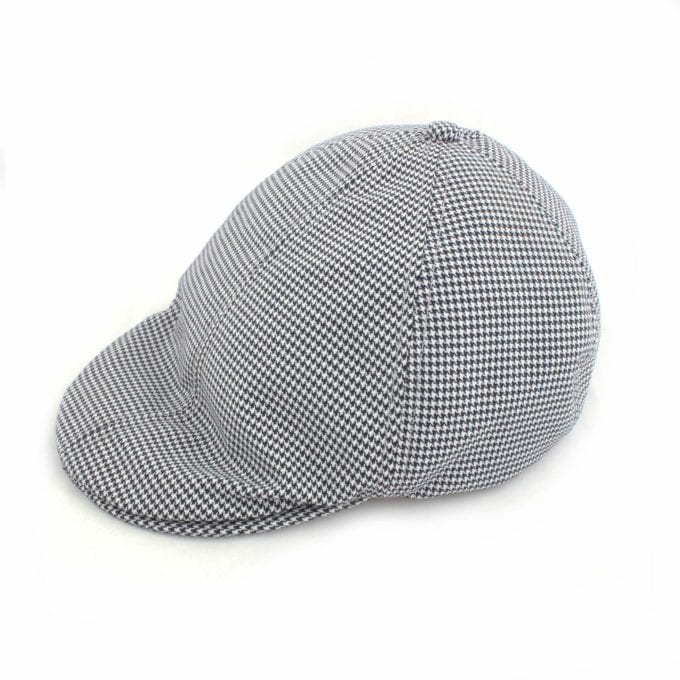 Far Afield Bakers Cap a Black / White BCI Cotton Fabric