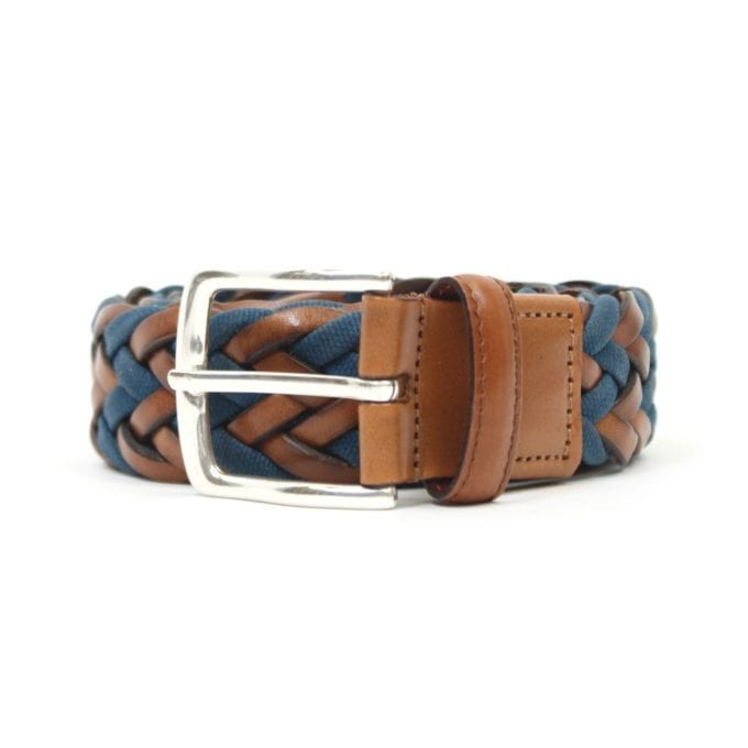 Far Afield Edward Belt a Blue / Brown