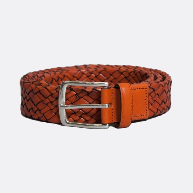 Far Afield Woven Leather Belt Bags