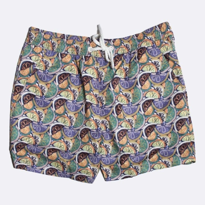 Far Afield Juicy Print Swim Shorts 50% Off Selected Recycled Plastic Swimwear