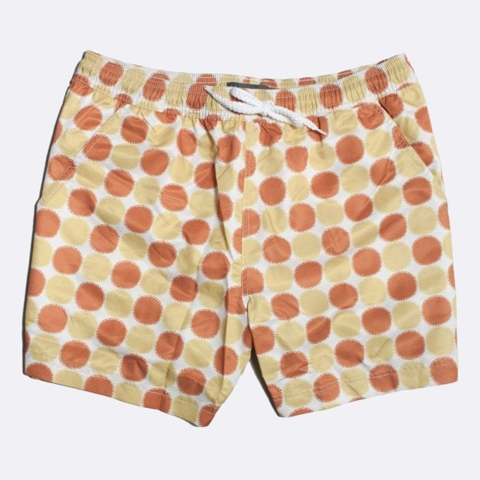 Far Afield Blazing Print Swim Shorts 50% Off Selected Recycled Plastic Swimwear