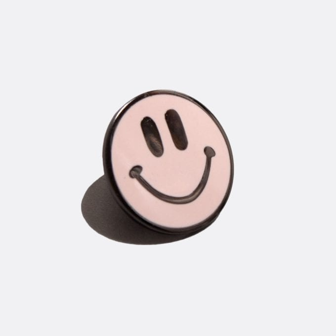 Far Afield Acid Smile Pin Badge Acid Smile Range