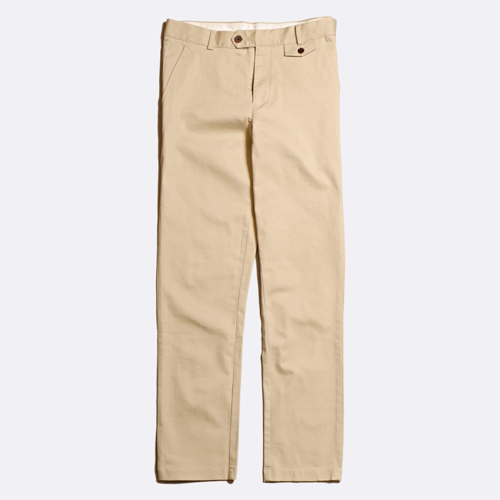 Far Afield Tricker Trousers a Pumice Stone BCI Cotton Twill Classic Tailored Smart Casual Trousers