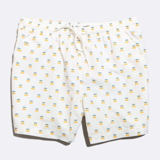 Far Afield x Selfridges Oranges Print Swim Shorts 50% Off Selected Recycled Plastic Swimwear