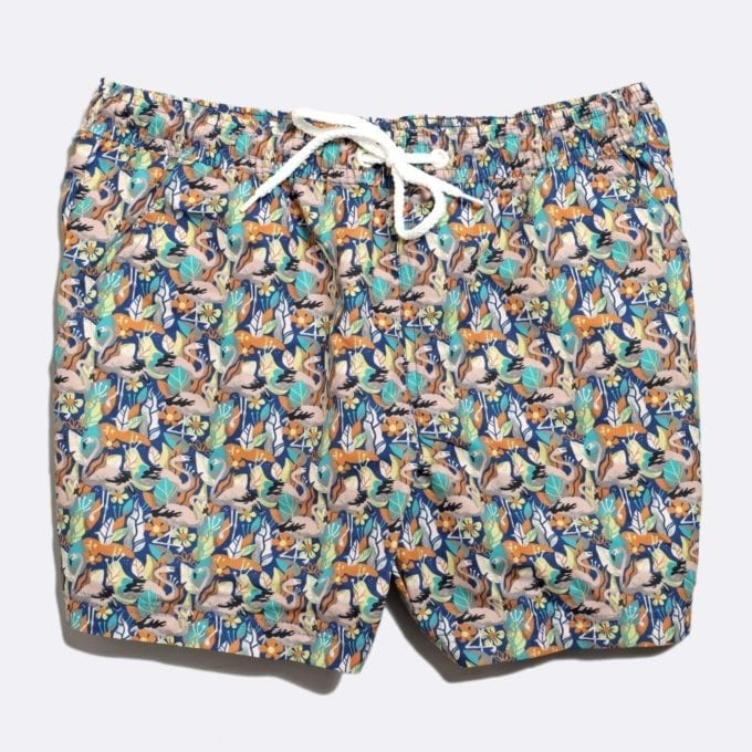 Far Afield x Selfridges Birds Print Swim Shorts 50% Off Selected Recycled Plastic Swimwear