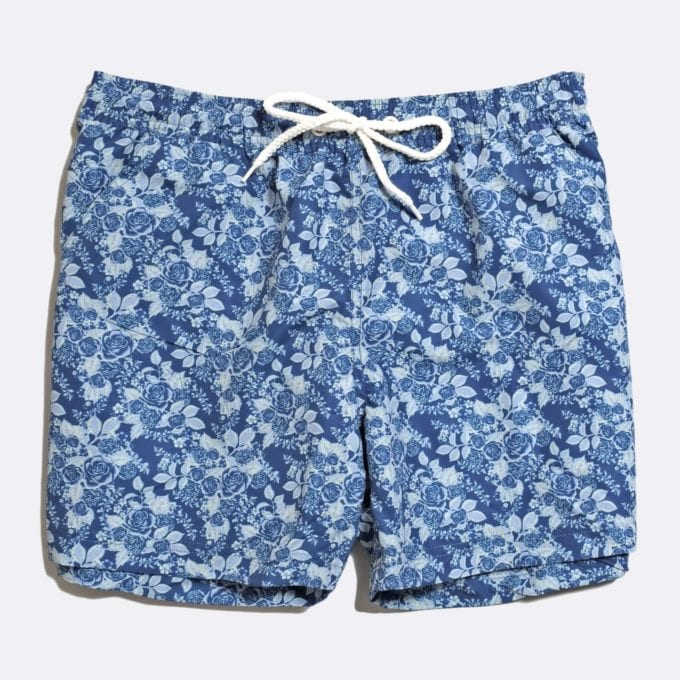 Far Afield x Selfridges Rose Print Swim Shorts 50% Off Selected Recycled Plastic Swimwear