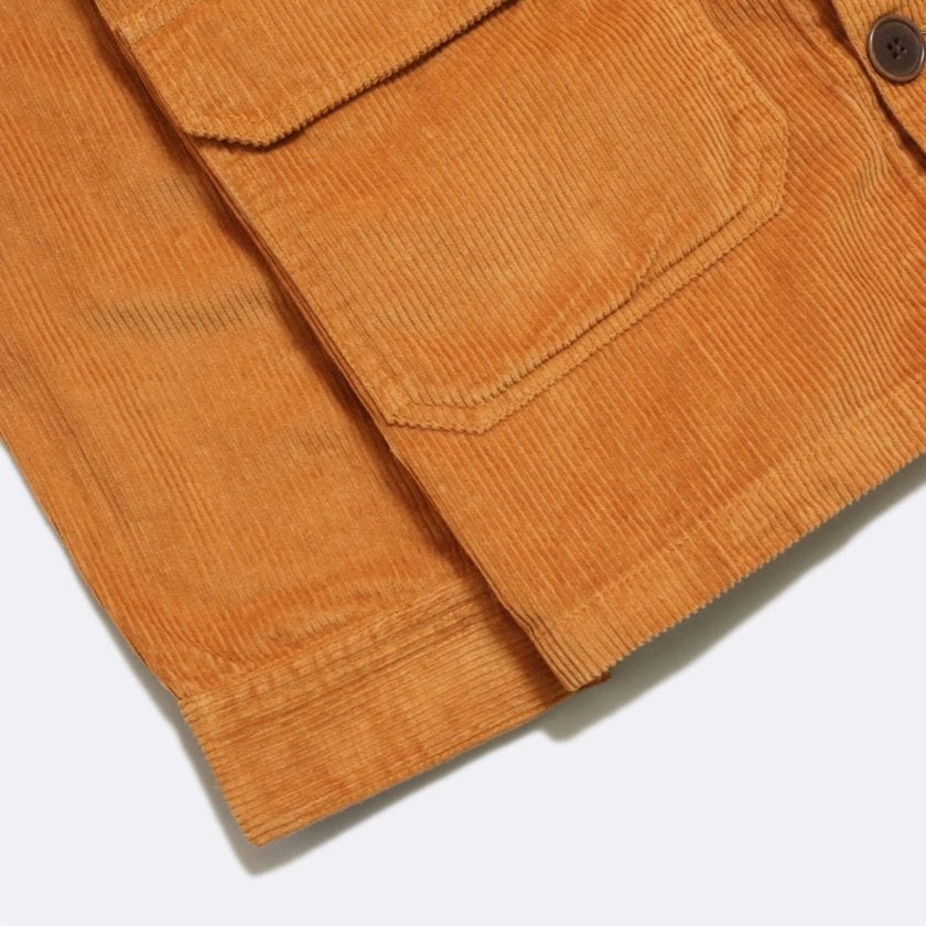 Far Afield Porter Jacket a Orange Organic Cotton Twill Fabric Utility Overshirt Casual Work 5