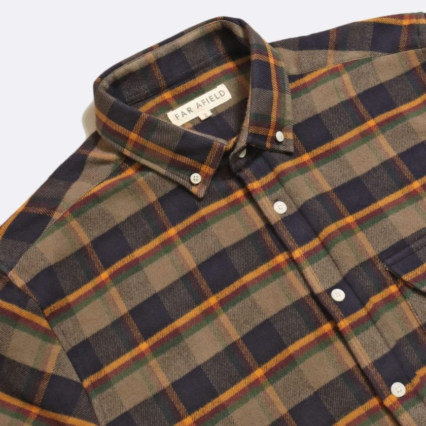 Far Afield Larry Long Sleeve Shirt a Ural Check BCI Cotton Fabric/Cotton Flannel Work Lumberjack Check Casual 5