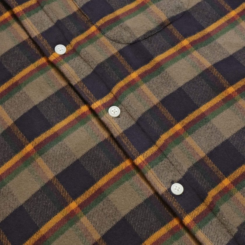 Far Afield Larry Long Sleeve Shirt a Ural Check BCI Cotton Fabric/Cotton Flannel Work Lumberjack Check Casual 6