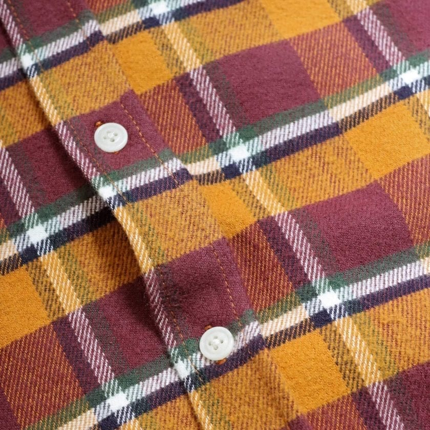 Far Afield Larry Long Sleeve Shirt a Omsk Check BCI Cotton Fabric/Cotton Flannel Work Lumberjack Check Casual 6