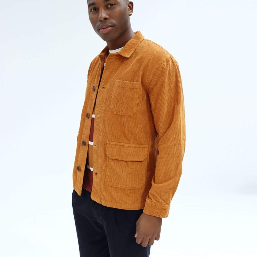 Far Afield Porter Jacket a Orange Organic Cotton Twill Fabric Utility Overshirt Casual Work 2