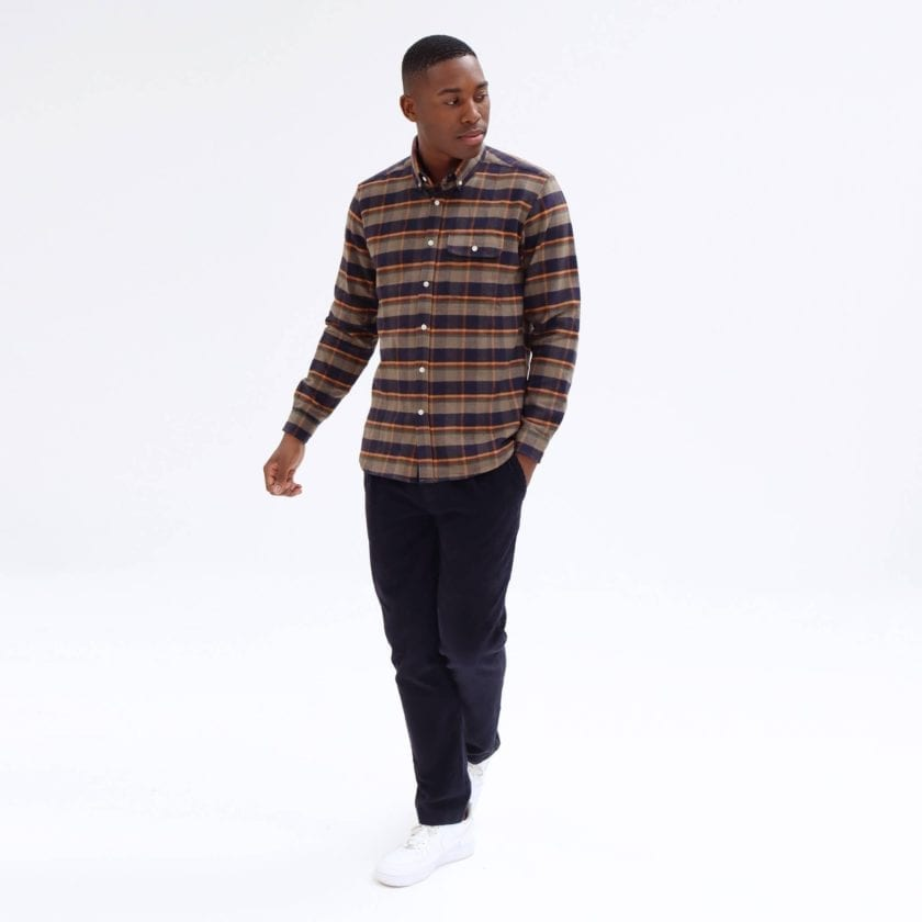 Far Afield Larry Long Sleeve Shirt a Ural Check BCI Cotton Fabric/Cotton Flannel Work Lumberjack Check Casual 2