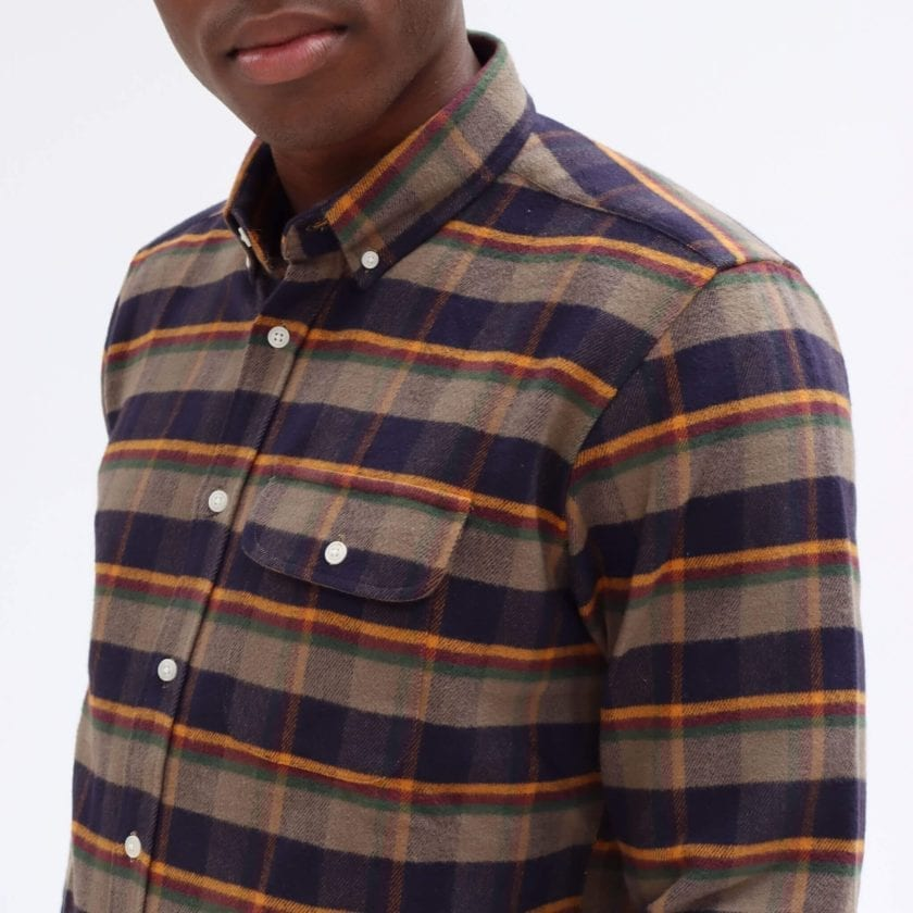 Far Afield Larry Long Sleeve Shirt a Ural Check BCI Cotton Fabric/Cotton Flannel Work Lumberjack Check Casual 4