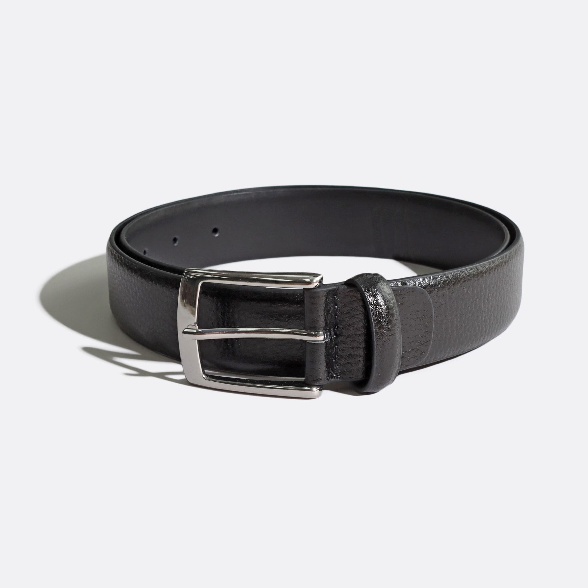 Far Afield Classic Leather Belt a Black Leather Fabric Heritage Inspired