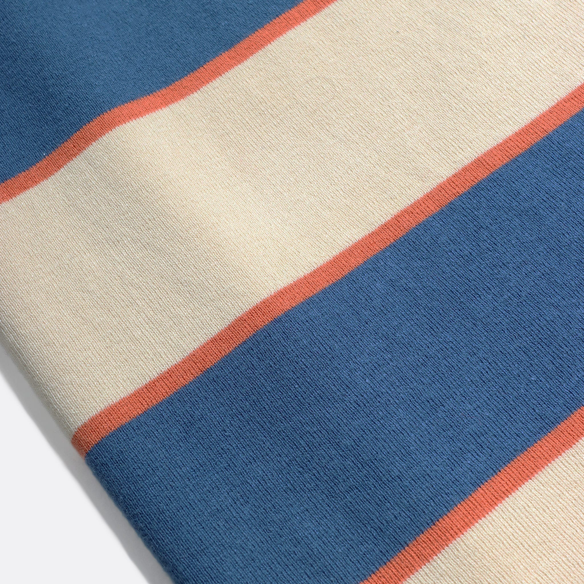 Far Afield Newport T-Shirt a Ensign Blue/Lambs White Organic Cotton Fabric Short Sleeve Mid Century Inspired 5