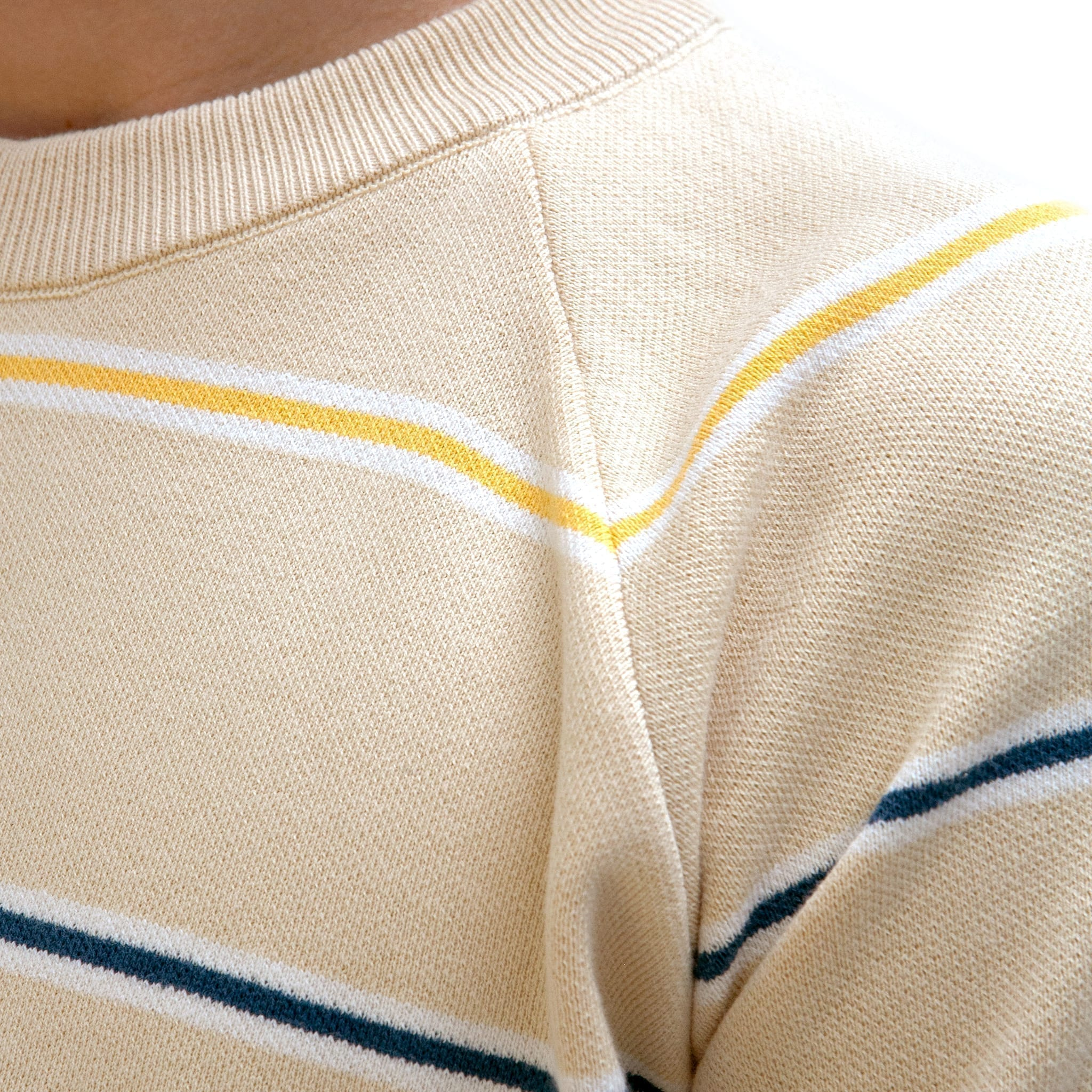 Far Afield Carrol Raglan Knit a Lambs White Stripes Organic Cotton Fabric Casual Basics 3