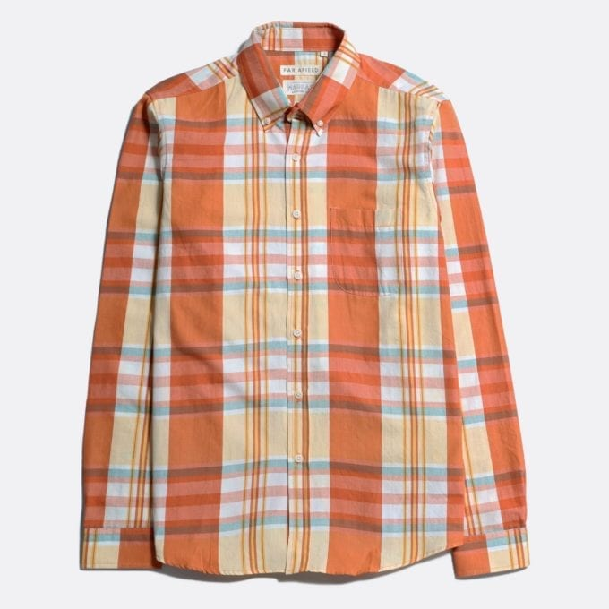 Far Afield x MSCo – Mod Button Down Long Sleeve Shirt a Rincon Check BCI Cotton Fabric Smart Casual