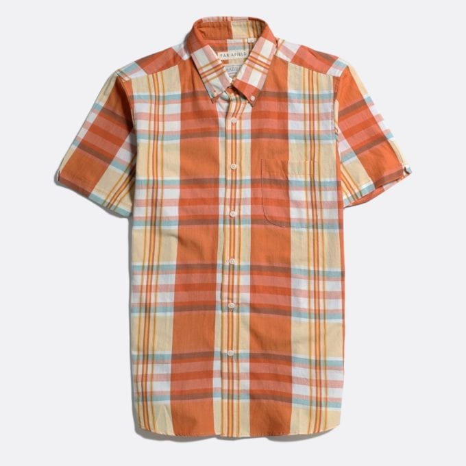 Far Afield x MSCo – Mod Button Down Short Sleeve Shirt a Rincon Check BCI Cotton Fabric Smart Casual