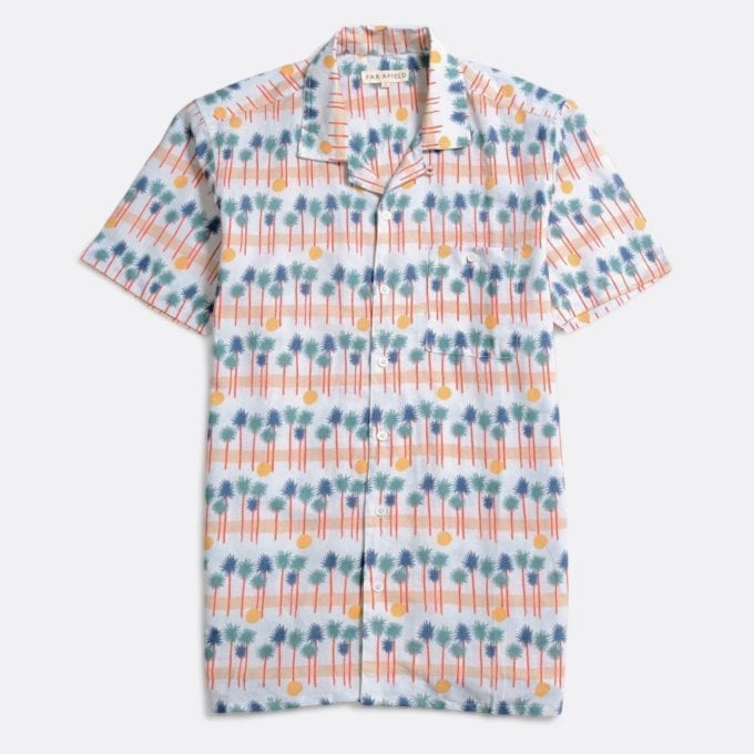 Far Afield Selleck Short Sleeve Shirt a Muli Colour BCI Cotton / Linen Fabric Mix Hawaiian Bowling Style Hawaiian Style