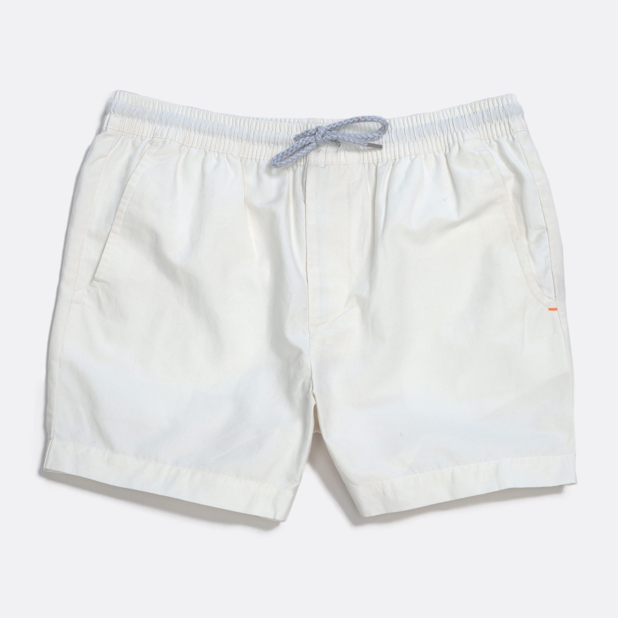 Far Afield House Shorts a White Sand Linen Fabric Casual Basics