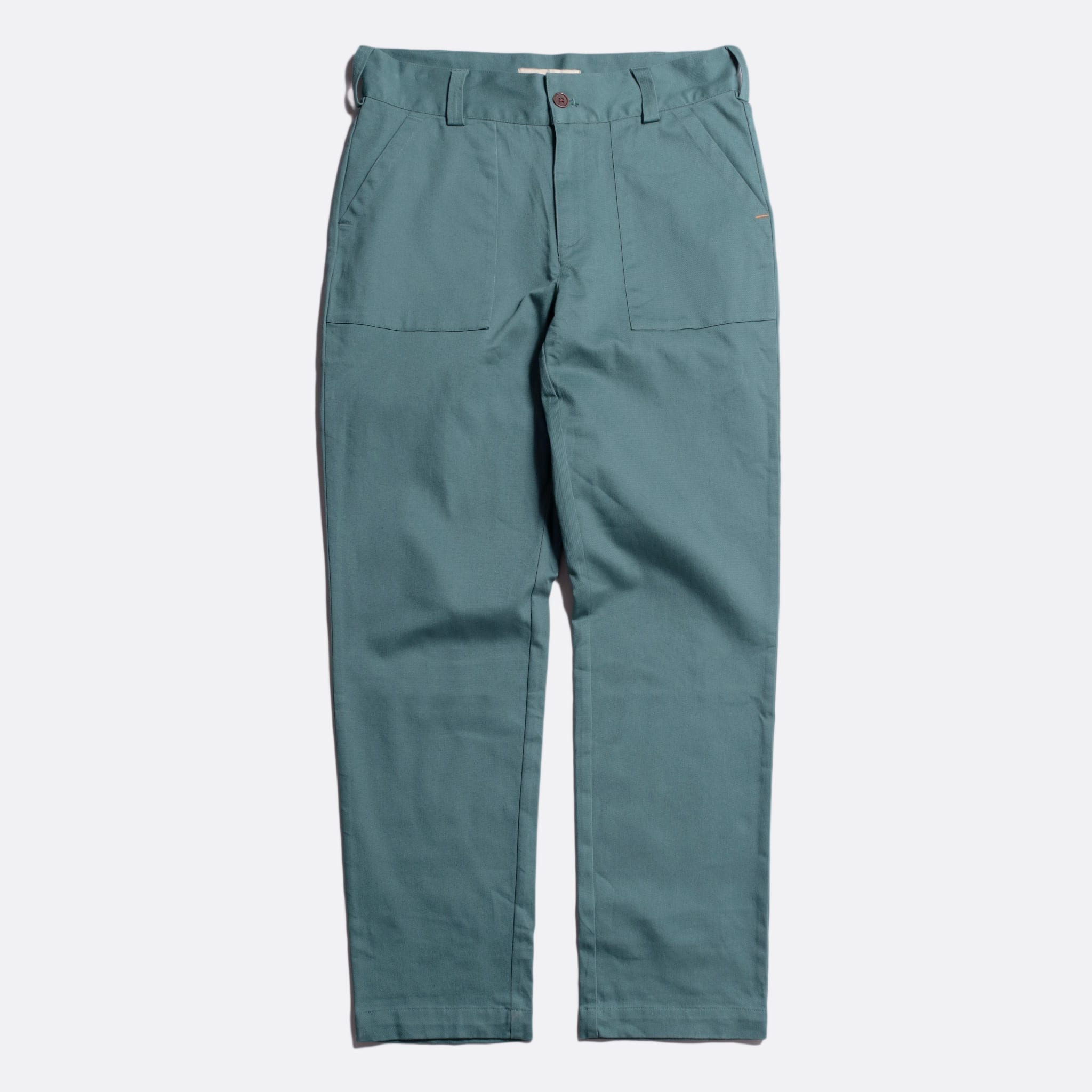 Far Afield Coup Trousers a Sagebrush Green Organic Cotton Twill FabricClassic Work
