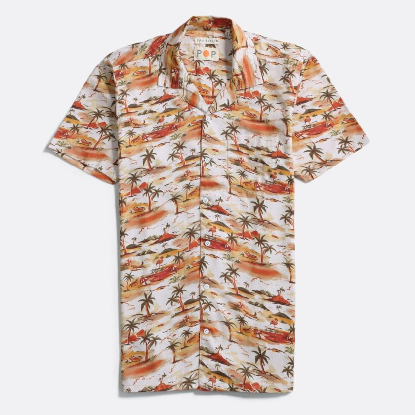 Far Afield 'POP' Stachio Short Sleeve Shirt 'POP' SS21