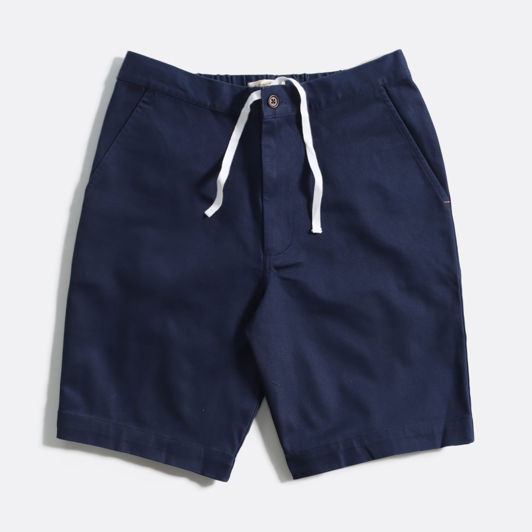 Far Afield Drawstring Shorts a Ensign Blue Organic Cotton Twill FabricCasual Basics
