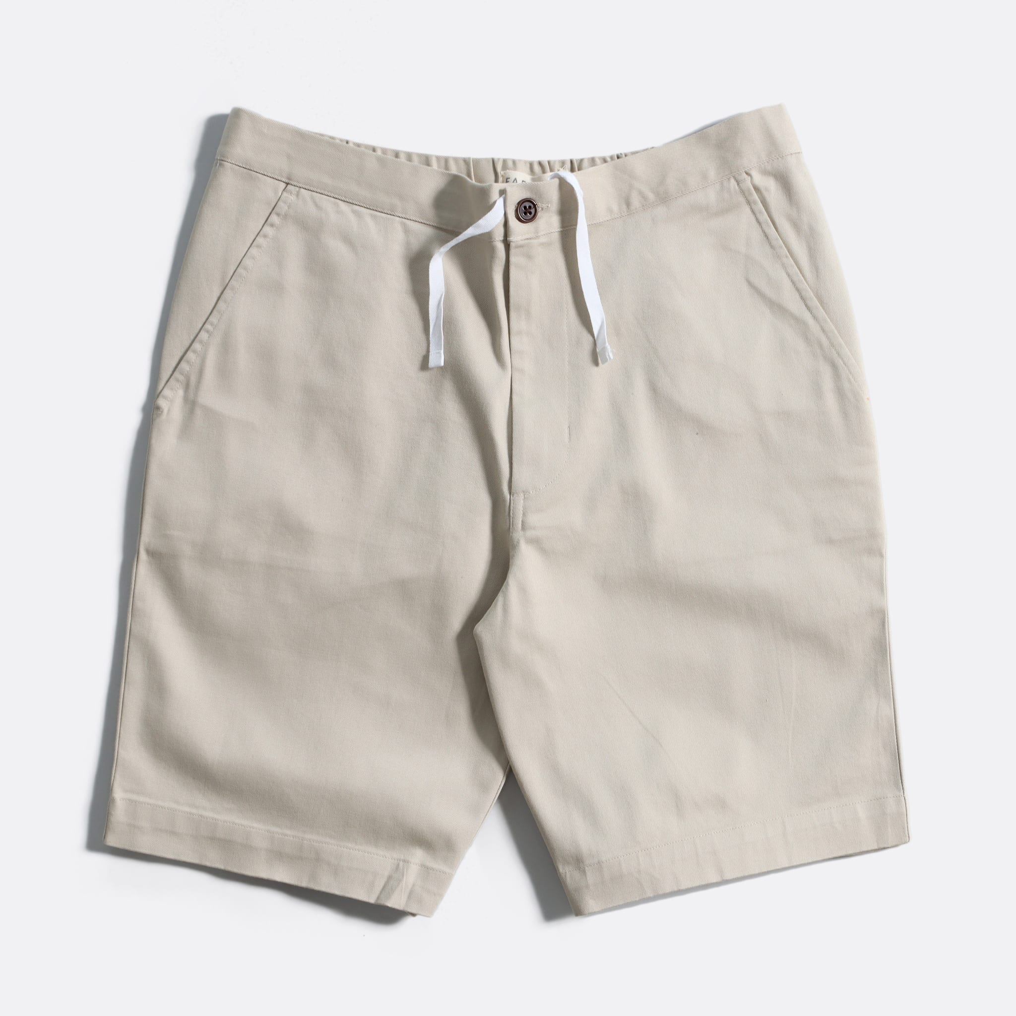 Far Afield Drawstring Shorts a Pumice Stone Organic Cotton Twill FabricCasual Basics