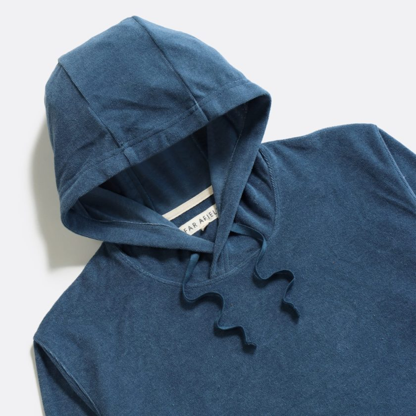 Far Afield Hooded Sweatshirt a Ensign Blue Terry Towelling Cotton Blend Classic Hoodie 2
