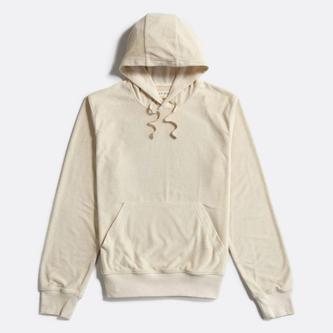 Far Afield Hooded Sweatshirt a Off White Terry Towelling Cotton Blend Classic Hoodie
