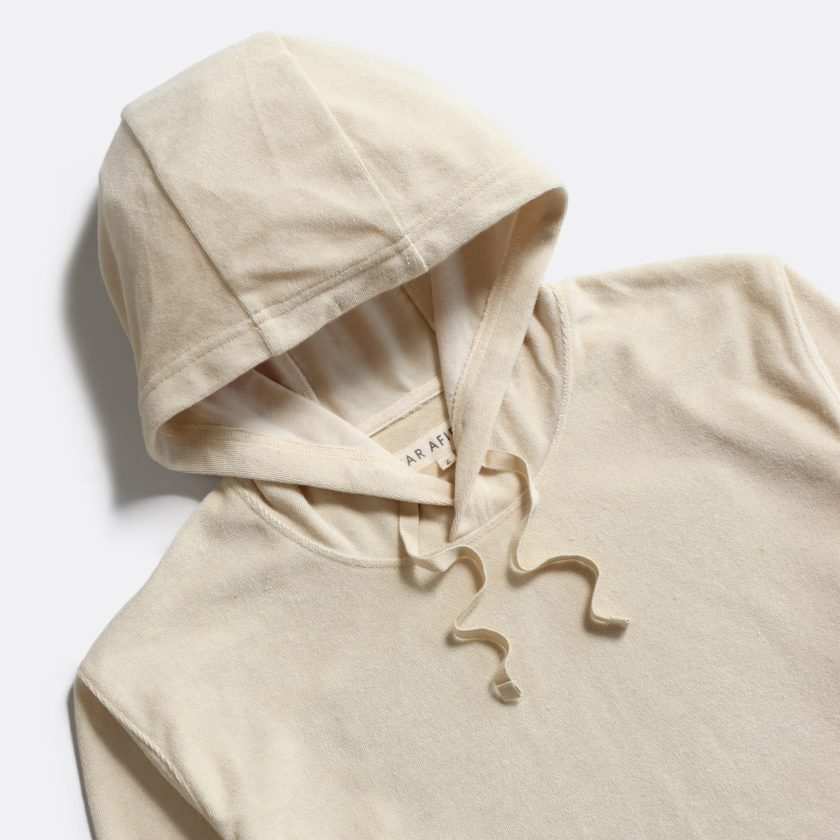 Far Afield Hooded Sweatshirt a Off White Terry Towelling Cotton Blend Classic Hoodie 2