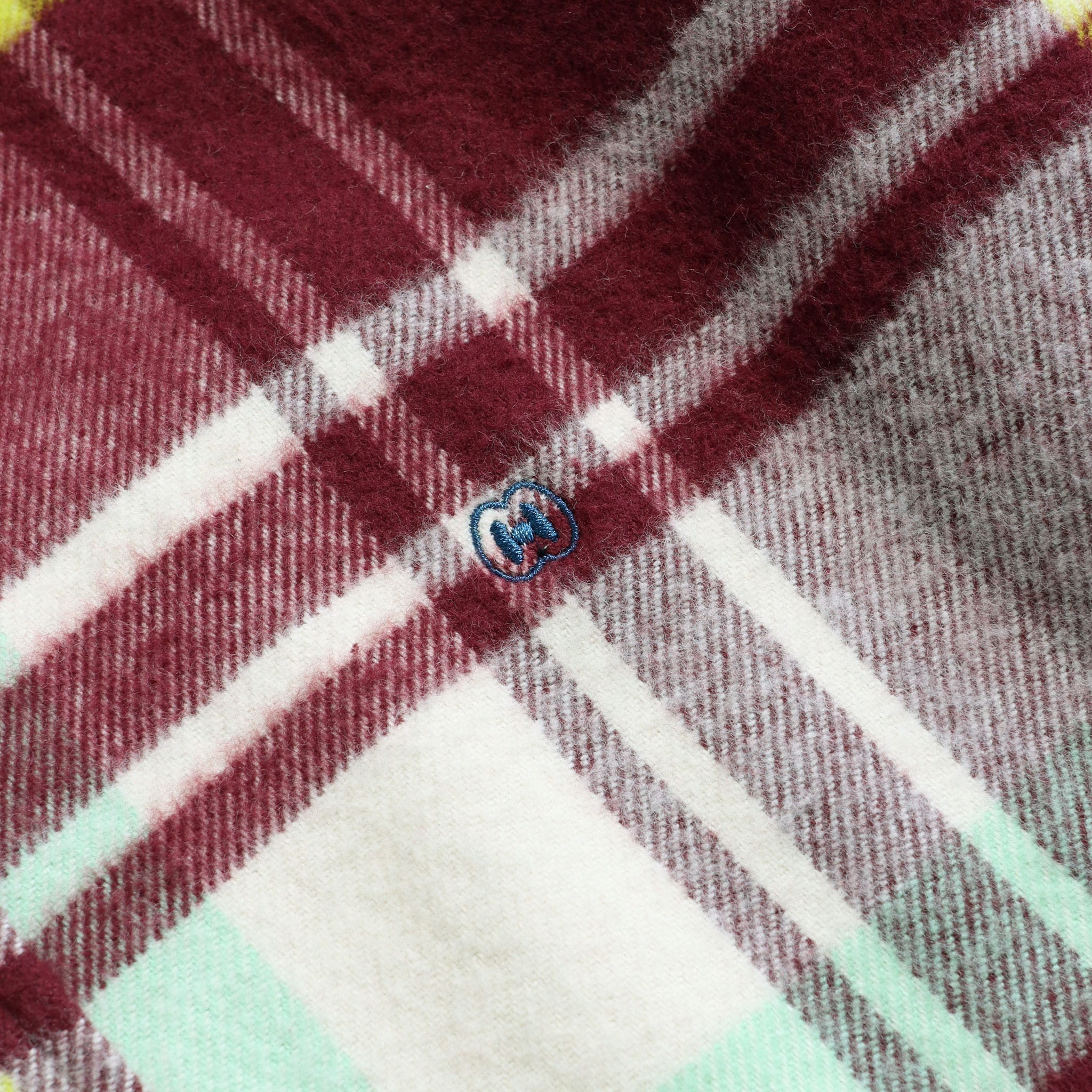 MSCo x Casual Co – Mod Button Down Long Sleeve Shirt a Burgundy Check Up-Cycled Cotton Flannel Fabric 3