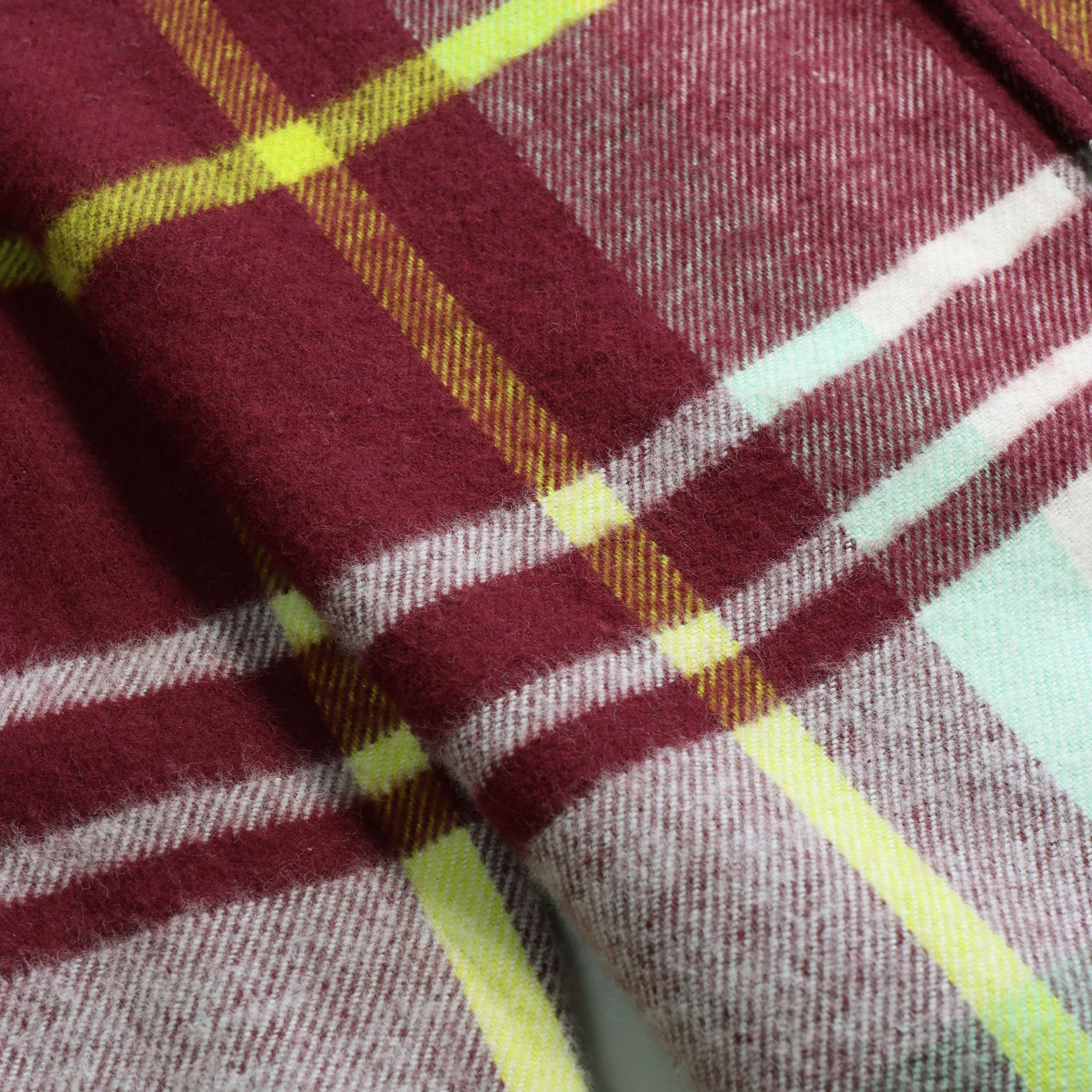 MSCo x Casual Co – Mod Button Down Long Sleeve Shirt a Burgundy Check Up-Cycled Cotton Flannel Fabric 4