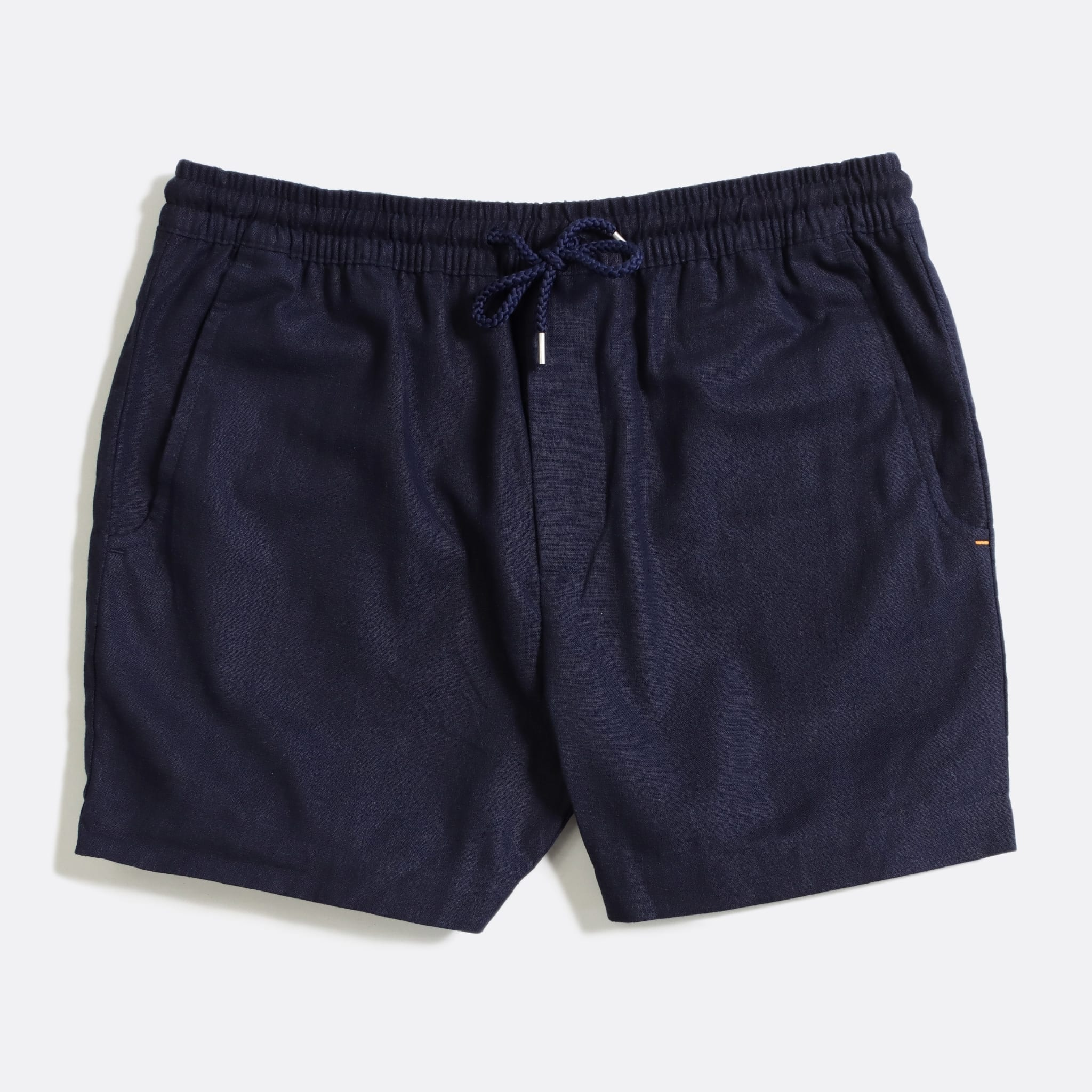 Far Afield House Shorts a Ensign Blue Linen Fabric Casual Basics